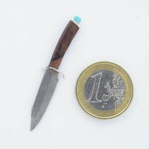 Miniatur Bowiemesser aus Damaststahl