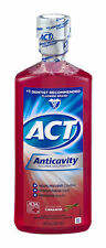 Act Anticavity Fluoride Rinse, Cinnamon, Alcohol Free 8-Ounce (Pack of 3)