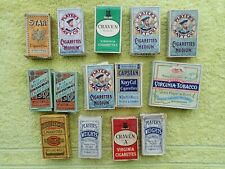 14 EMPTY VINTAGE CIGARETTE PACKETS WITH INNER SLIDES, Players, Wills Craven etc