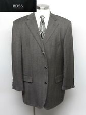 HUGO BOSS Sport Coat 46R Gray Herringbone $395