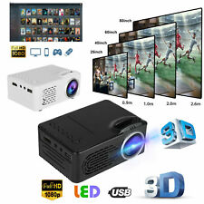 Projector Mini HD 1080P Portable Theater Cinema HDMI AV USB Video Movie For Home