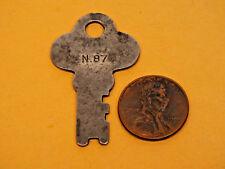 Antique Vintage Silver Coloured Padlock Key Marked N.87