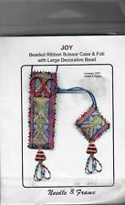 Needle & Frame Joy- Beaded Ribbon Scissor Case & Fob-New