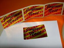 40 Etiquettes adhésives JOYEUX NOEL fête décoration cadeau rouge or sticker doré