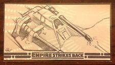 Topps Empire Strikes Back 30th Anniversary Rebel Snowspeeder sketch card Owens
