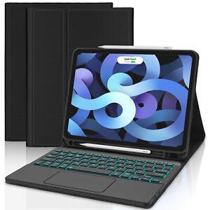 iPad 5/6/7/8th Air4 Pro 12.9 3/4th Bluetooth Keyboard Case w/Touchpad /Backlit