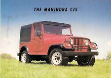 Mahindra CJ5 early 1990s marché du royaume-uni notice sales brochure