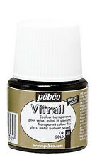 Pebeo Vitrail Stained Glass Effect Paint 45ml TRANSPARENT Colours & Mediums