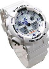 Casio G-Shock Sports Mens X-Large World Time Watch White Resin GA100A GA-100A-7A