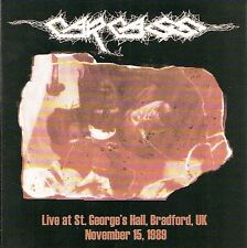 Carcass - Live At St. George's Hall, Bradford, UK November 15, 1989, CD, NEU