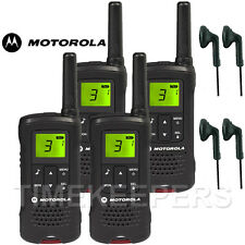 8 km Motorola TLKR T60 Talkie Walkie Two Way Sécurité Loisirs Radio + 4 casques