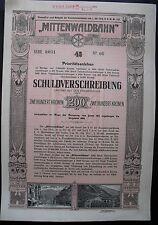 Mittenwaldbahn   1912 Innsbruck Garmisch Mittenwald