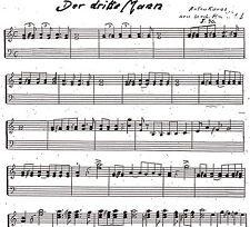 Der Dritte Mann von Anton Karas neu bearbeitet für die Zither Noten -Zithernoten
