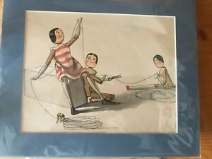 Florence K Upton Illustrated Print From In The Air Excellent Condition