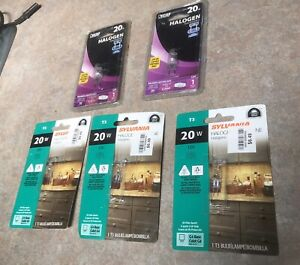 Sylvania -feit Electric 20w 20T43Q/CL/RP T3 /G8 Halogen Bulb - New - Lot of 5
