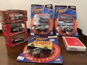 Dale Earnhardt and Dale Jr. Winners Circle Mixed Die Cast Car Lot w/ Bonus Cards