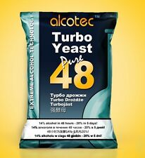 Alcotec 48h TURBO YEAST High Alcohol  Fast and  Free P&P 1st class UK