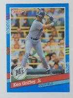 1991 91 Donruss Error Ken Griffey Jr #77, Mariners, HOF, No Period After Inc