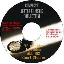 COMPLETE AGATHA CHRISTIE MYSTERIES EBOOK BUNDLE, POIROT, MARPLE, ON CD