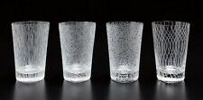 SOL LEWITT Crystal Engraved Glass Set / Gobblets / Tumblers SIGNED Ltd Ed. *NEW*