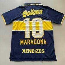 1996/97 BOCA JUNIORS Heim Maradona 10 Fußball Trikot Jersey Vintage Retro Shirt