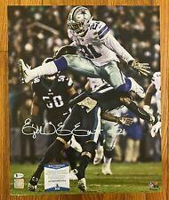 Ezekiel Elliott Signed 16x20 Photo Beckett BAS WITNESSED COA Dallas Cowboys