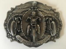 Live to Ride - Ride to Live Motorcycle Large Belt Buckle 1987 Bergamot K-180