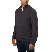 English Laundry Men's ¼ Zip Pullover,Charcoal Sizes Variety
