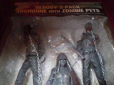 McFarlane Toys Walking Dead Bloody 3-pack Variant, Michonne w/zombie pets 2013
