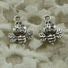 free ship 90 pieces Antique silver bee charms 16x12mm #2803