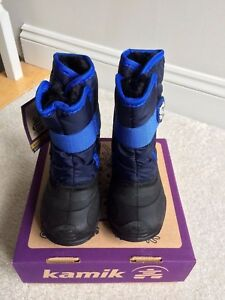 NEW! Toddler Boy KAMIK Snowbug Winter Snow Boots Comfort Rated -10*F Blue 7 or 8