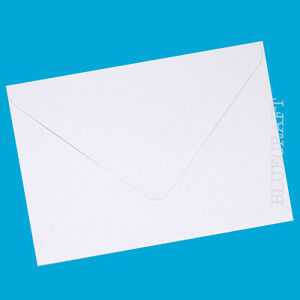 "50 pack x A6 C6 Diamond White 100gsm Gummed Envelopes 6 x 4"" - Wedding Invites"