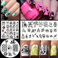 3Pcs/set BORN PRETTY Owl Theme Nail Art Stamping Stamp Image Plates Stencils