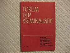 Volkspolizei Forum der Kriminalistik 5-1981 ,Strafvollzug u. Wiedereingliederung