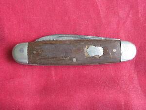 Antique Remington R365 Equal End 2 Blade Pocket Jack Knife, Wood Handle Scales