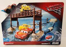 DISNEY PIXAR CARS 3 Beach Blast Playset Mattel 2017 McQueen Water Toy Gift New