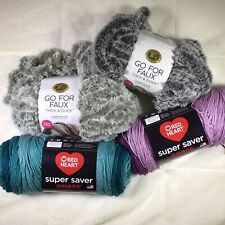 New listing Mixed Lot of Random Yarn Skeins Balls Different Shades Info In Description Box