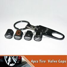 Hot!! Black Car Wheel Tire Valves Dust Stems Air Caps Keychain HEMI Logo Emblem