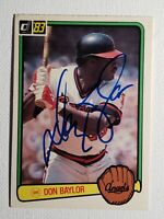 1983 Donruss Don Baylor Auto Autograph Card Angles Red Sox Yankees Signed D-2017