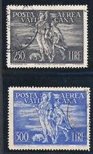 VATICAN C16-17, USED, 1948 AIR MAIL