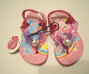 My Little Pony Girls Flip Flop Beach Shoes Medium 7-8 Water Toddler Baby Kids