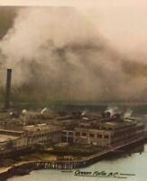 Postcard, Ocean Falls Pulp And Paper Mill, B.C. Canada, Tinted Vintage, P36