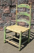 Antique Primitive Ladder Back Shaker Pilgrim Style Chair ~ Collector Estate