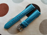 18mm Turquoise Teju Lizard EMBOSS Genuine Leather EZ-PIN Watch Band,Strap