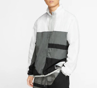 Nike Training Jacket Mens 2XL New White Sportswear Basketball Flight Half Zip