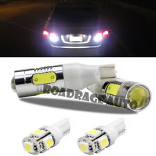 4x For High Lumen License Plate Back Up Reverse LED Bulb T10 Xenon White Bulb