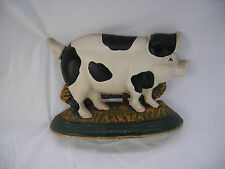 Vintage Cast Iron Pig Doorstop