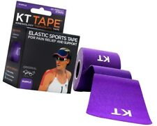 KT Tape Therapeutic Elastic Body Sports Tape Roll of 20 Strips - Cotton - Purple