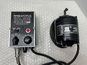 MINARIK SH-14 SPEED CONTROL & BODINE NSH-12 1/50 .35 A DC ELECTRIC MOTOR TESTED