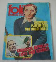 Charles Aznavour - FOKUS - Yugoslavian November 1974 VERY RARE
